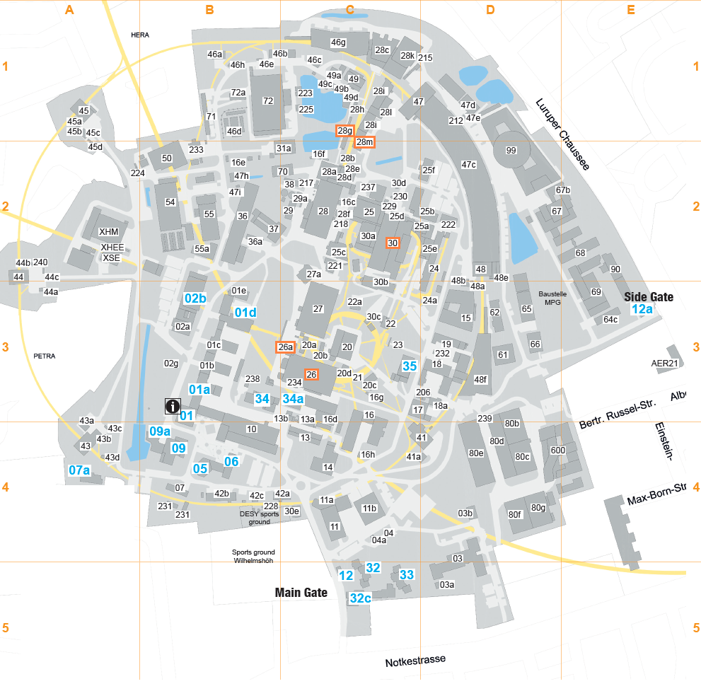 Desy fla fla locations map of the desy campus buildings related to the fla group are coloured orange publicscrutiny Choice Image